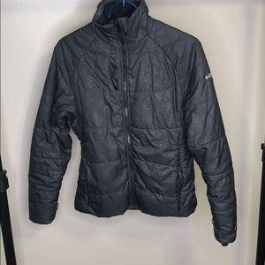Columbia Titanium Black Metallic Puffer Jacket